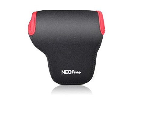 Togather® Neoprene professionale DSLR fotocamera borsa bauletto con moschettone per fotocamera digitale Canon EOS-M3 con obiettivo 18-55mm - Nero