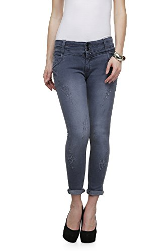 ahhaaaa-Grey-Ankle-Length-denim-jeans-for-Women
