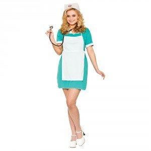 Ladies E.R Nurse Fancy Dress (Dress Kostüme Nurse Fancy)