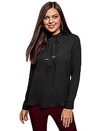 Amazon.es  lazo negro - XL   Blusas y camisas   Camisetas e57f5dec6c27