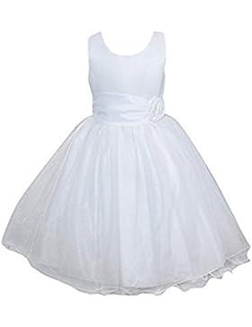 Live It STYLE It ragazze rosa abito fiore Princess senza maniche formale FESTA DI NOZZE Abiti Damigella d'ONORE...