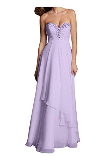 Prom dress sfera forma Toscana elegante sposa cuore Chiffon lunghi