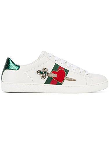 Gucci Damen 472990A38g09064 Weiss Leder Sneakers