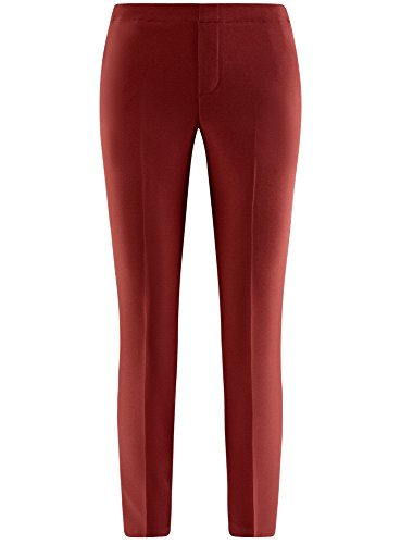 oodji Ultra Donna Pantaloni 7/8 con Cinta Elastica Rosso (4900N)