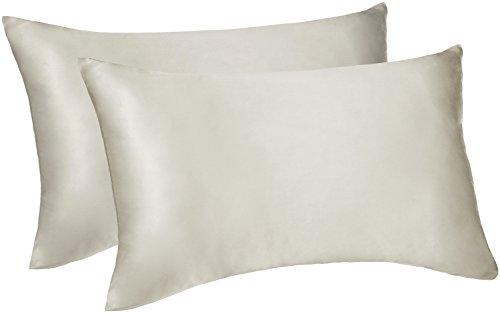 Pinzon -  funda de almohada de seda reversibles - 50x75cmx2, Marfil