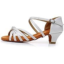 de Satén de Zapatos Ballroom MujerNiñas SWDZM Latino de Baileestándar Zapatos Baile FfBTwqE