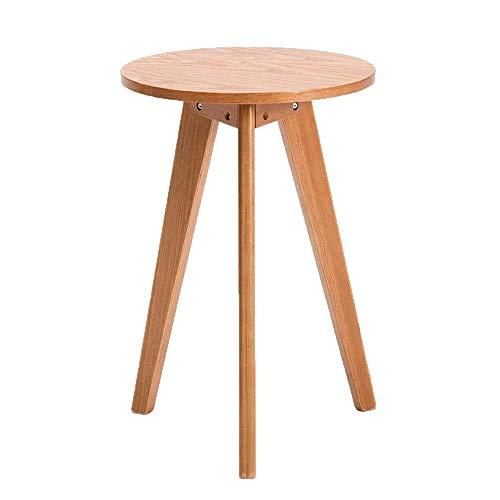 LXJJDGF Kleiner Runder Tisch, Hochtisch Aus Massivholz, Einfacher Sofa-Beistelltisch, Wohnzimmer, Couchtisch, Schlafzimmer, Kleiner Runder Tisch (Color : A) -
