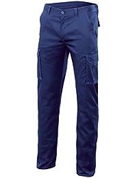 Velilla 103002S - Pantalón multibolsillos (talla 48) color azul