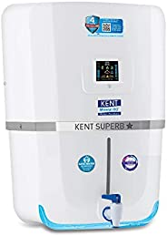 Kent - 11080 Superb Star 9-litres Wall Mountable RO + UV + UF + TDS Controller (White) 20-Ltr/hr Water Purifie
