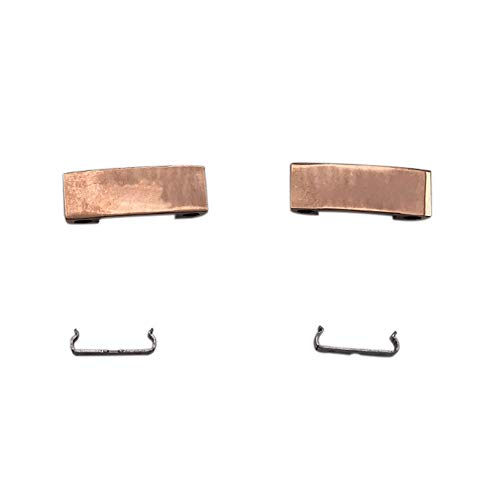 Hzjundasi 2 * Cerniera del connettore della fascia di ricambio + 2 * Kit di riparazione del metallo Connettore pieghevole adatto per cuffie Beats studio wireless 3.0 - Oro Rosa