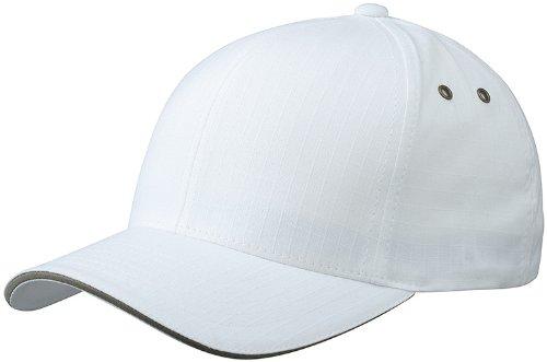 Myrtle Beach Uni Cap Flexfit Ripstop  Sandwich, white/olive, S/M, MB6187 whol