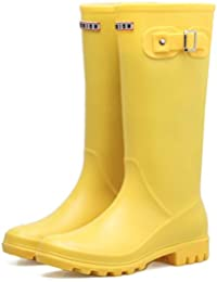 36f61682a1c0e HGDR Stivali da Pioggia Wellies da Donna Donna Stivali da Pioggia per  Stivali da Pioggia