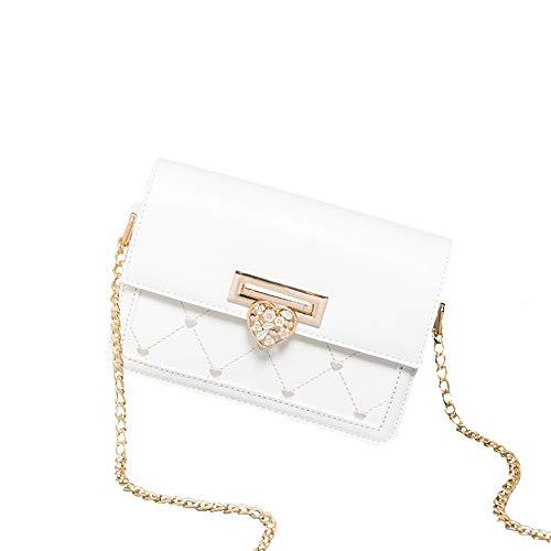 Kette kleine Tasche, Mode einzelne Schulter umhängetasche Reines weiß 20,5 * 14 * 8,5 cm