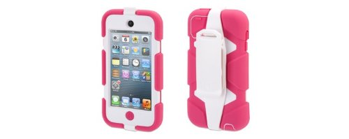 Griffin Technology GB35696 Survivor Rugged Case für Apple iPod Touch 5th Generation pink/weiß (Ipod Touch 5g Smart Case)