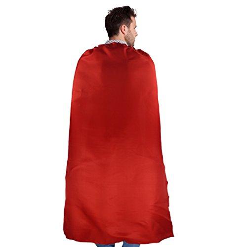 CHTENG 140cm Superheld Kostüm für Erwachsene Cape Maske und 22cm ()