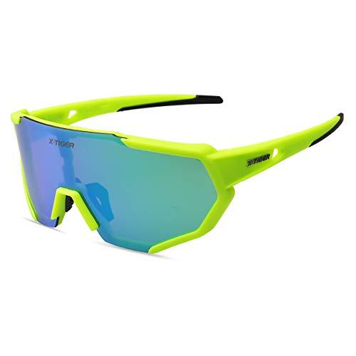 X-TIGER Gafas Ciclismo polarizadas 3 Lentes Intercambiables