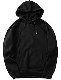 new style 25b34 b02ba Amazon.it: FELPA NERA CON CAPPUCCIO - Uomo: Abbigliamento
