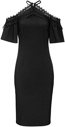 FIND Kleid Damen Off-Shoulder mit Spitze