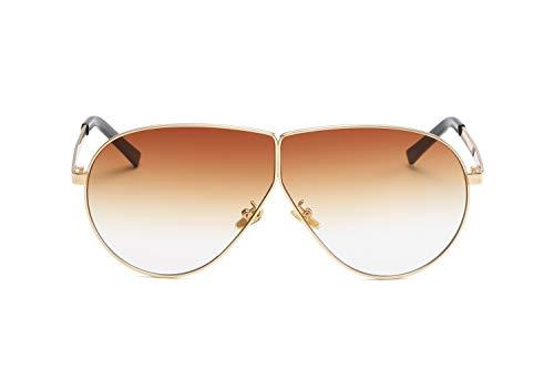 ZJWZ Europäische und AmerikaNische Mode New Metal Big Box Persönlichkeit Sonnenbrillen Männer und Frauen mit der Trend-Sonnenbrille,NO5