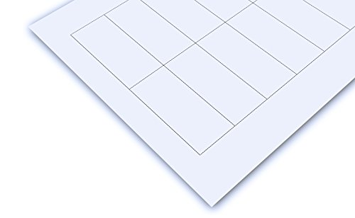 Papiereinschübe für PSG (Namensschild Badge-Discounter) , 5 Bögen im Format A4 , Papp-Etiketten , Papiereinschübe auf perforiertem Druckbogen , Einschübe passend für Namensschilder , Ausweishüllen , zum selbstbeschriften , auch für Ordnungssysteme