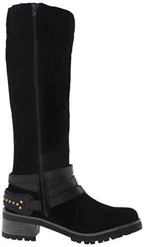 Fergalicious Rita Rund Faux Wildleder Mode-Knie hoch Stiefel Black