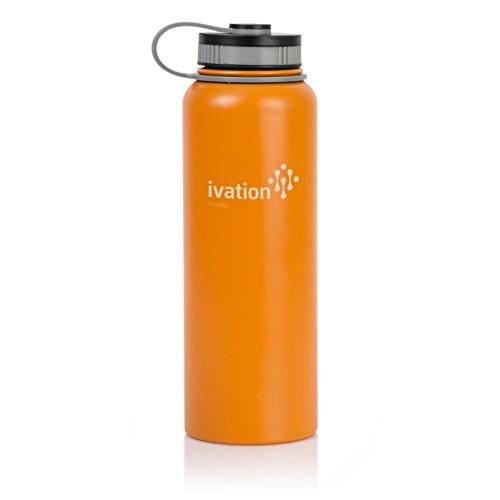 Isolierte Edelstahl-Flasche mit breitem Mund und 1136ml Kapazität, leicht, und BPA-frei Orange (Hydro Flasche Wide Mouth Kaffee)