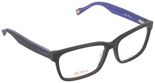 BOSS Orange Unisex-Erwachsene BO 0182 K0P 55 Sonnenbrille, Schwarz (Black Blue),