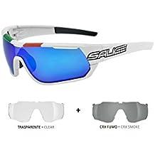 Salice 004CRX Brille selbsttönend Smoke, Weiß/Schwarz