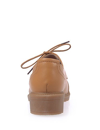 ZQ hug Scarpe Donna-Stringate-Casual-Comoda-Basso-Di pelle-Nero / Marrone / Beige , brown-us8.5 / eu39 / uk6.5 / cn40 , brown-us8.5 / eu39 / uk6.5 / cn40 black-us7.5 / eu38 / uk5.5 / cn38