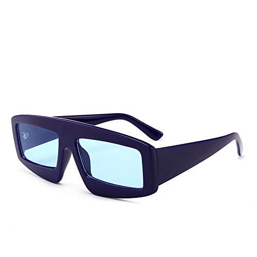 QDE Sonnenbrillen Niedliche Retro Sonnenbrillenfrauen Kleine Schwarze Dreieckweinlese Billige Sonnenbrillen Für Mannrote Weibliche Uv400, Blau
