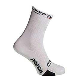Calze Calzini Ciclismo BEETEXWORK Bianco Cycling Socks 1 Paio One Size New Line