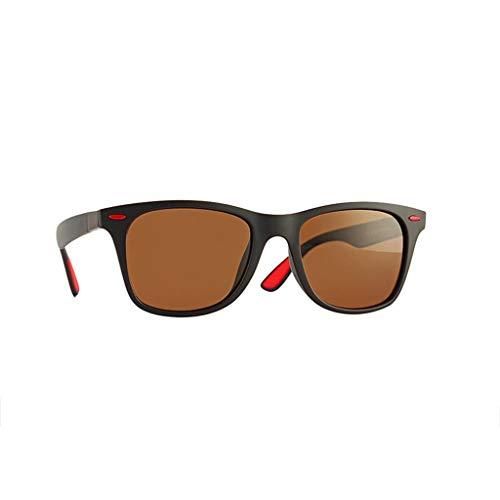 fazry Herren Sonnenbrille Mode Einfach Gemütlich Polarisiert Brille Quadrat Draussen Brillen(F)