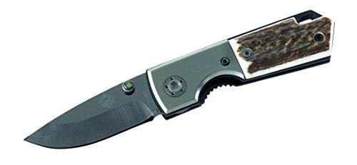 Puma TEC Couteau de poche, lame céramique, acier affiné, corne de cerf,