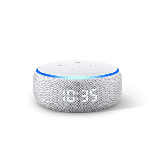 All-new Echo Dot (3rd generation) | Smart speaker with clock and Alexa, Sandstone fabric