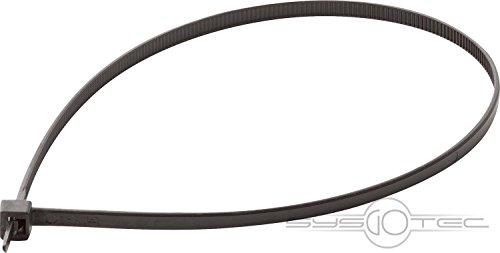 AEG Kabelbinder SLHZ KB, Zur Fixierung von Heizbändern, Heizband Zubehör, 100 Stück, Schwarz, 232568 (Heizkabel Rohr)