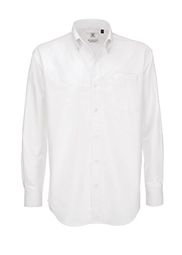 B&c oxford shirt, camicia casual uomo, white (white), 42(dimensioni produttore: medium)