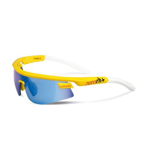 Zero rh + occhiali da ciclismo olympo contador l.e. triple fit, uomo, radsportbrille olympo contador l.e. triple fit, gelb-glänzend