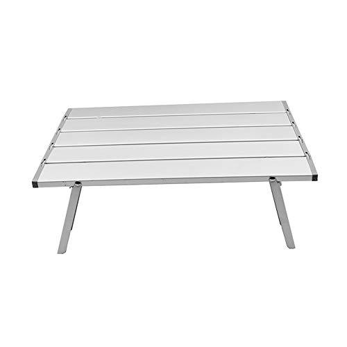 Ouqian Tragbarer Campingtisch Kleiner, einfach zu lagernder rechteckiger Aluminium-Klappbock for den Innen- und Außenbereich (40 x 29 x 12,5 cm) Extra Starkes langlebiges Gut