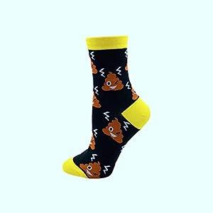 FANRUOM Socken Nettes lustiges glückliches Sockenweihnachtsgeschenk der Dame-Sockenbaumwollbunten Karikatur