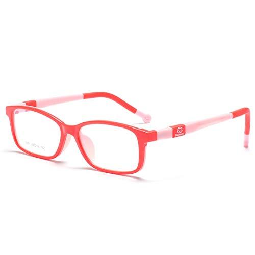 Chengduaijoer Kinder-Brillen aus Silikon mit Brillen für Frauen, Männer (Color : Red)