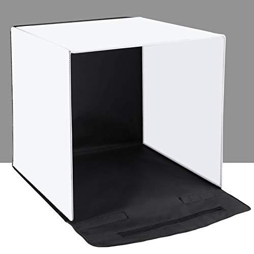 WXQP Tragbare Fotostudio-Box mit 5 Farbhintergründen (2 x 20 LED-Leuchten) Faltkabine Beleuchtungsset für Tischfotografie -