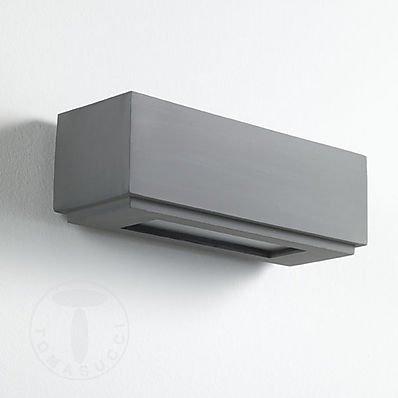 Tomasucci Siena Applique, Grigia, Lunghezza 22 cm/Profondità 8,5 cm/Altezza 7,5 cm