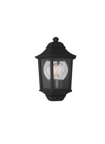 Philips myGarden Napels Farol de pared, IP44, iluminación exterior, resistente a la humedad y la intemperie, 100 W, negro
