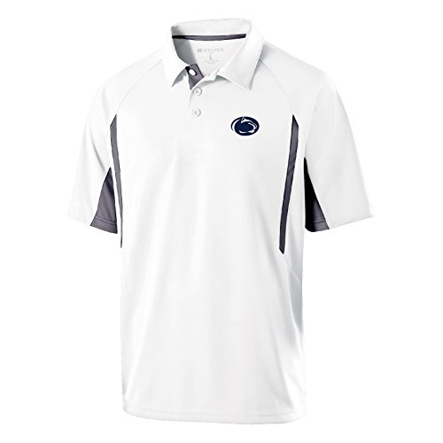 Ouray Sportswear NCAA Penn State Nittany Lions Men's Avenger Polo Shirts, Medium, White/Graphite (Tee Penn State)