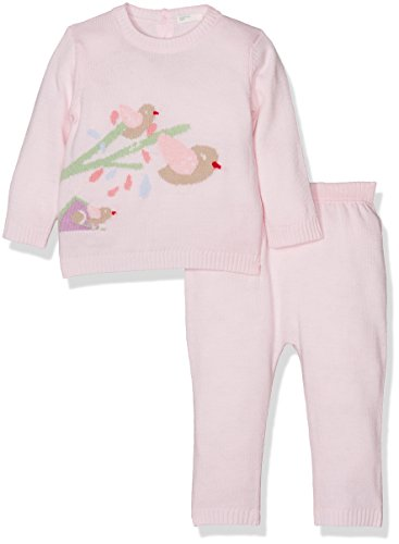 United Colors of Benetton Set Sweater+Trousers, Conjunto para Bebés, Rosa (Light Pink...