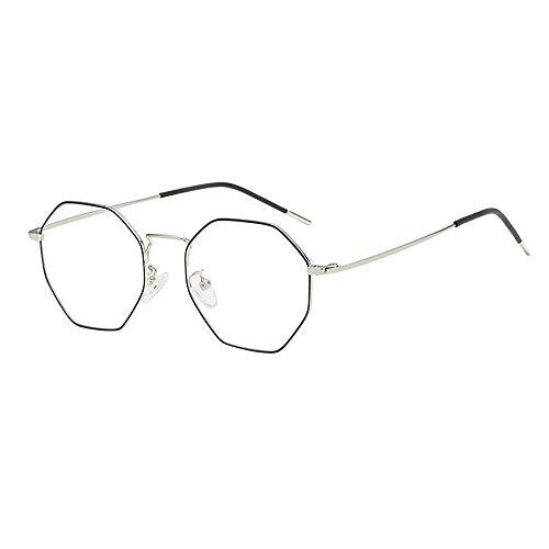 Laile Gläser Klar Diamant Brille Unisex Glasrahmen-Ebenenspiegel Klassische Mode Dekobrillen Sommer günstige Gläser schöne Großer Rahmen Nerdbrille Persönlichkeit Streberbrille