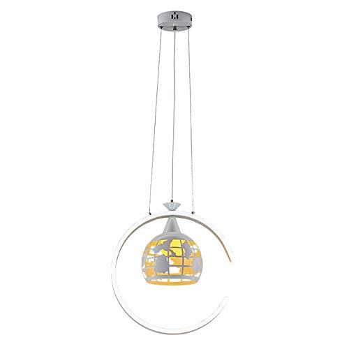 C-Form LED-Hängelampe Einzigen Kopf Globus Schmiedeeisen Pendelleuchte Weiß Acryl Lampenschirm Modernen Minimalistischen Kronleuchter Wohnzimmer Restaurant Beleuchtung
