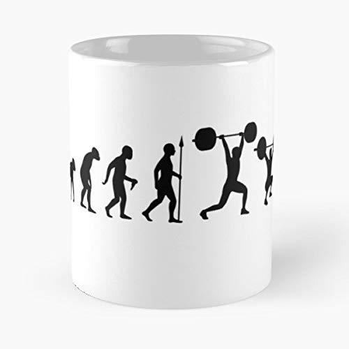 Lift Crossfit Weights Train Training Lifting Workout Exercise Gym Barbell Dumbbell Snatch - Best 11 oz Kaffee-Becher - Tasse Kaffee Motive