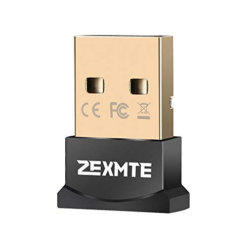 ZEXMTE Adaptateur USB Bluetooth CSR 4.0 Dongle Bluetooth Récepteur de Transfert Adaptateur sans Fil pour Ordinateur Portable, Compatible Windows 10/8/7/Vista/XP, Souris, Clavier et Casque
