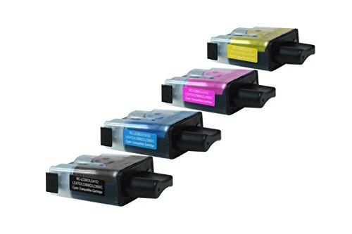 Inkadoo Tinte passend für Brother MFC-215 C kompatibel zu Brother LC900BK, LC900C, LC900M, LC900Y -...